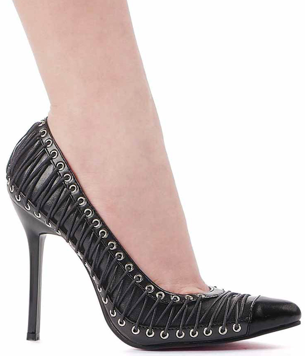 4 Inch Stiletto Heel Laced Pump