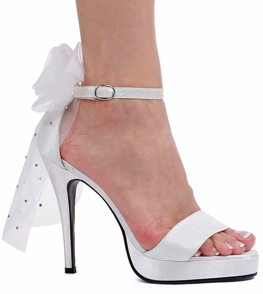 4 Inch Stiletto Heel Open Toe Sandals w/Attached Veil