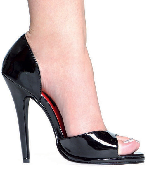 5 Inch Stiletto Heel Open Toe Pumps