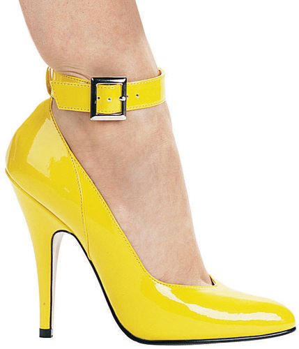 5 Inch Stiletto Heel Classic Ankle Strap Pumps