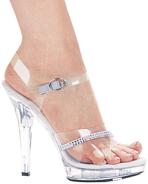 5 Inch Stiletto Heel Sandals w/Rhinestones